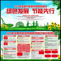 绿色发展节能先行主题宣传展板