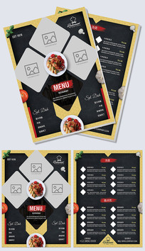 美味餐厅快餐菜单设计