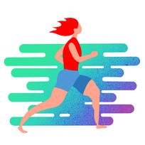 跑步运动的人