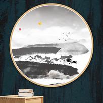 现代山水画水彩画