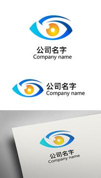 眼睛形状眼科标志LOGO设计