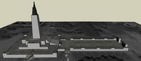 广场纪念碑SU模型