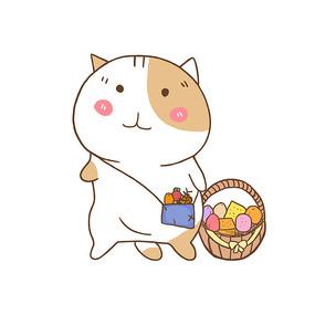 手绘原创猫咪背包