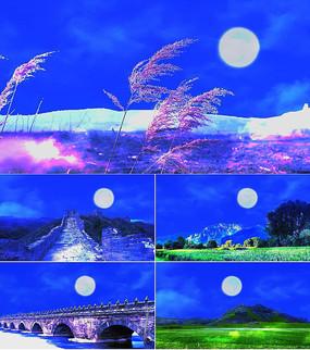 歌曲月亮舞台背景视频素材