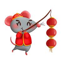 原创元素新年小老鼠