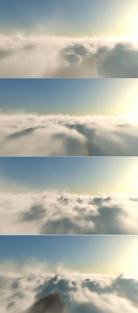 云层穿梭侧光AE模板