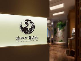 霸气凤凰图腾logo设计