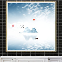 高山风水画装饰画