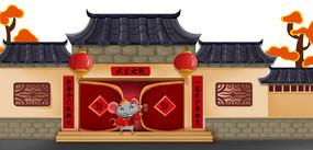 中国古建筑原创手绘