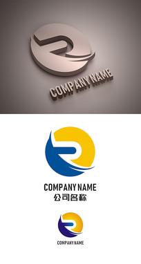 字母R标志LOGO设计