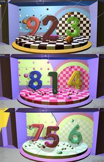 C4d三合一数字模型展台