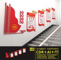 红色党建楼道文化墙