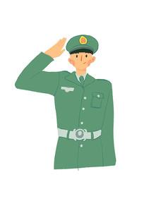 敬礼的军人