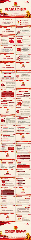 共产主义青年团支部工作条例学习解读PPT