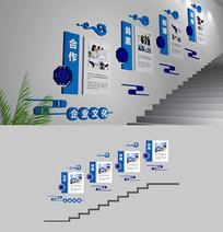 楼梯企业文化墙