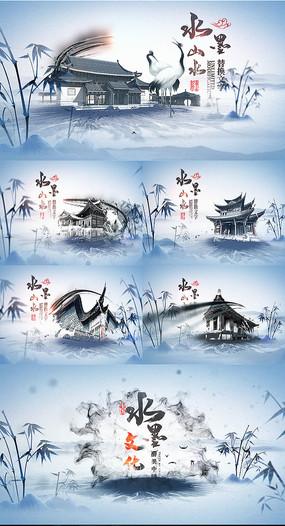 大气中国文化水墨片头AE模板