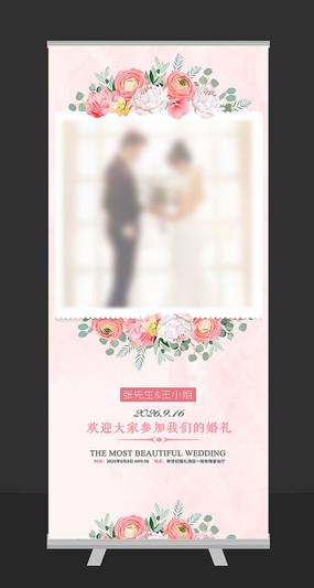 欧式浪漫婚礼展架