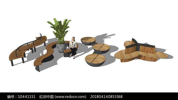 户外景观坐椅图片