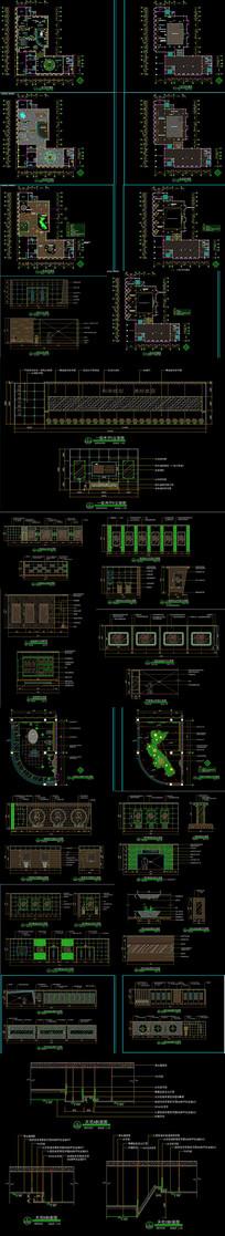 某城市规划展览馆CAD施工图