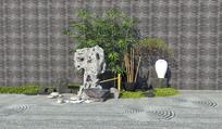 新中式庭院景观小品