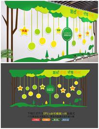 幼儿园可爱文化墙设计稿