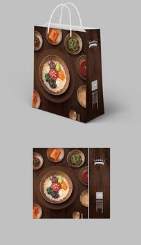古典中国风快餐饮食手提袋纸袋