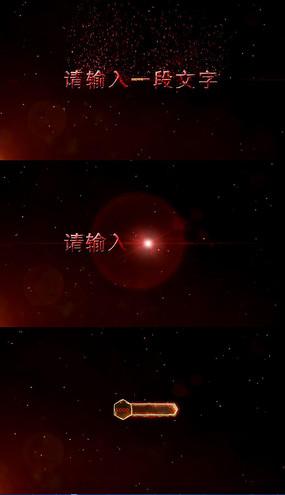 红色恐怖血液游戏炫酷粒子文字标题字幕条视频模板
