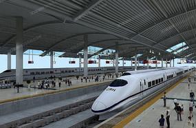 火车站站台模型