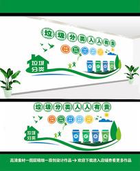 绿色垃圾分类文化墙设计