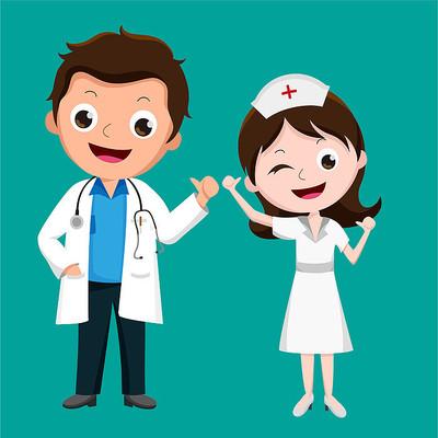 原创元素医生护士点赞表情