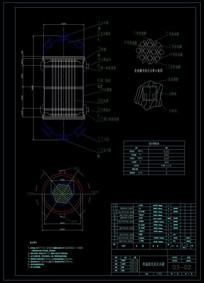 CAD列管式恒温固定床反应器图纸