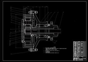 CAD装载机轮边减速器装配图