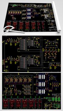 电厂循环冷却排污水回用系统CAD平面图