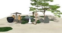 中式禅意庭院景观小品