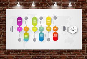 简洁大气企业文化背景墙