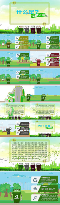 垃圾分类MG动画AE视频模板