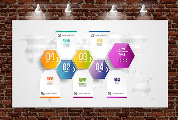 立体水晶企业发展历程文化墙