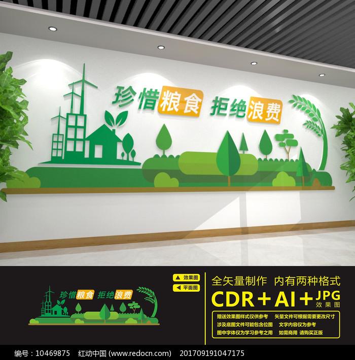 食堂餐厅标语文化墙图片