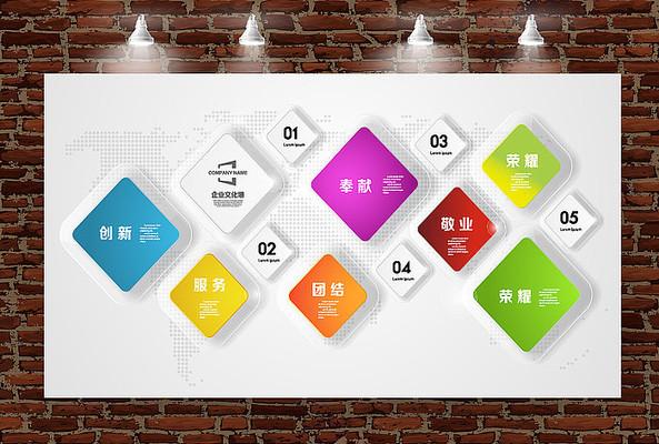 水晶立体企业发展历程形象墙