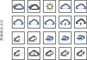 天气矢量图标