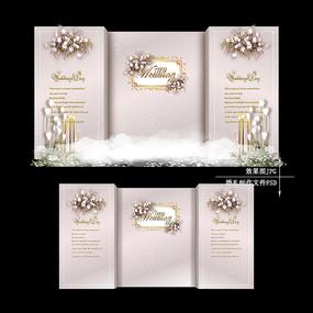 高级灰欧式婚礼效果图设计婚庆背景