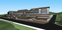 民族风格中式商业街 超精细SU模型