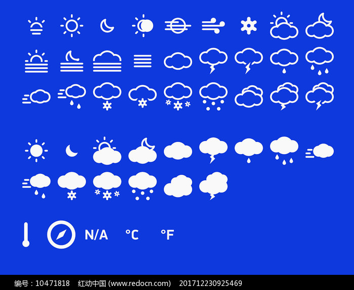 天气预报图标分层图图片