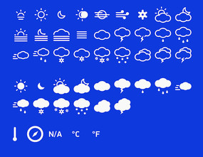 天气预报图标分层图