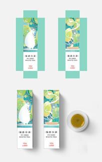 高端清新文艺手绘插画风格茶包装