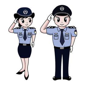 交警形象图片_卡通警察人物图片_卡通警察人物设计素材_红动中国