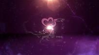 通用浪漫粒子星星心logo演绎模板