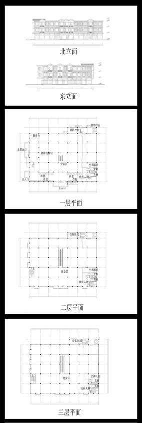 超市外观图纸 CAD图纸