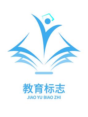 蓝色大气教育LOGO设计