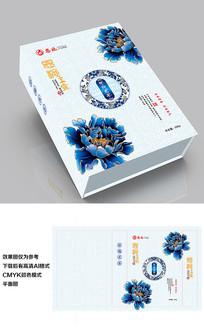 玉露青花瓷牡丹茶叶礼盒包装